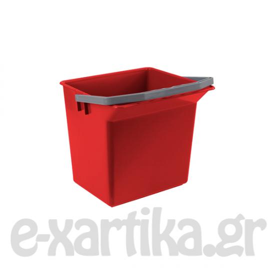 ΚΟΥΒΑΔΑΚΙ ΠΛΑΣΤΙΚΟ ΚΟΚΚΙΝΟ 6LT